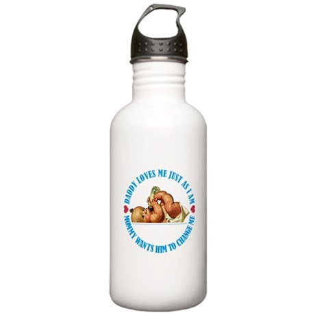 DADDY LOVES ME JUST AS Stainless Water Bottle 1.0L