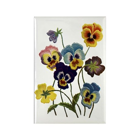 PARADE OF PANSIES Rectangle Magnet (100 pack)