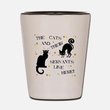 THE CAT AND THEIR... Shot Glass