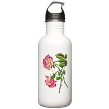 A PAIR OF PINK ROSES Water Bottle