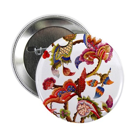 """Jacobean Embroidery 2.25"""" Button (10 pack)"""