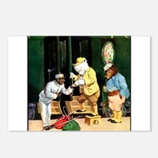 ROOSEVELT BEARS ON A TRAIN Postcards (Package of 8