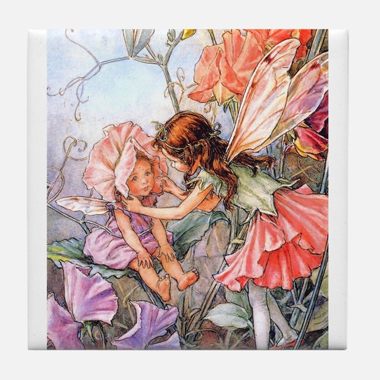 SWEET PEA FAIRY II Tile Coaster