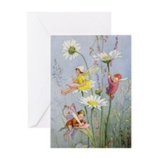 MOON DAISY FAIRIES Greeting Card