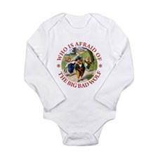 Who Is Afraid Of The B Long Sleeve Infant Bodysuit