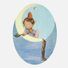 BOY IN THE MOON Ornament (Oval)