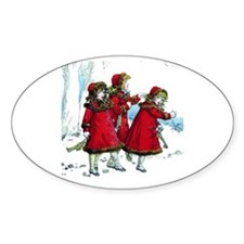 VICTORIAN ICE SKATERS Decal