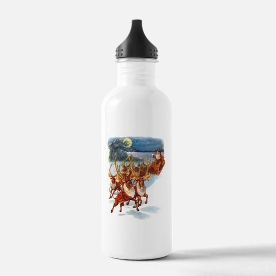 SANTA & HIS REINDEER Water Bottle
