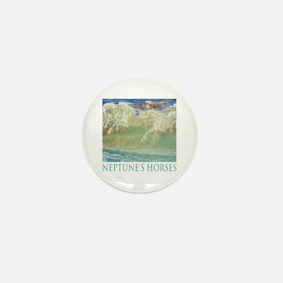 NEPTUNE'S HORSES Mini Button