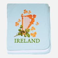 Ireland - Golden Irish Harp baby blanket