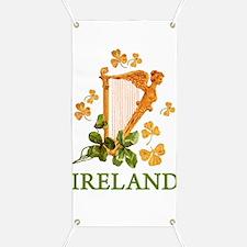 Ireland - Golden Irish Harp Banner