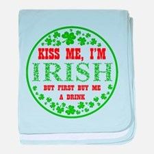 IRISH - BUY ME A DRINK baby blanket