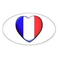 MY FRENCH HEART Sticker (Oval 50 pk)