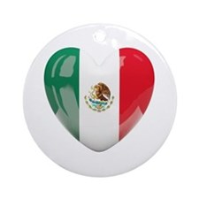 My Mexican Heart Ornament (Round)