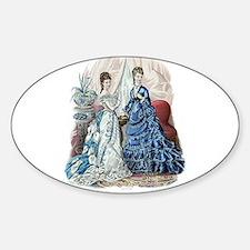 LA MODE ILLUSTREE - 1875 Sticker (Oval)