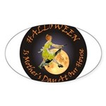 MOTHER IS A WITCH Sticker (Oval)