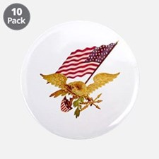 """AMERICAN EAGLE 3.5"""" Button (10 pack)"""