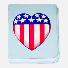 MY AMERICAN HEART baby blanket