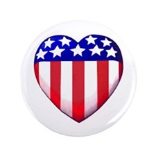 """MY AMERICAN HEART 3.5"""" Button"""