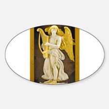 Angel With Golden Harp Decal