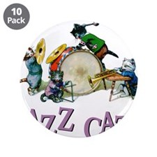 """Jazz Cats 3.5"""" Button (10 pack)"""