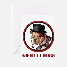 GO BULLDOGS Greeting Card