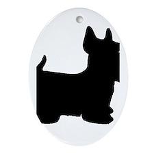 SCOTTY DOG Ornament (Oval)