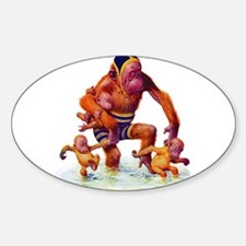 MONKEYS AT THE BEACH Decal