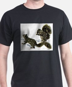 SQUIRRELS IN THE SNOW T-Shirt