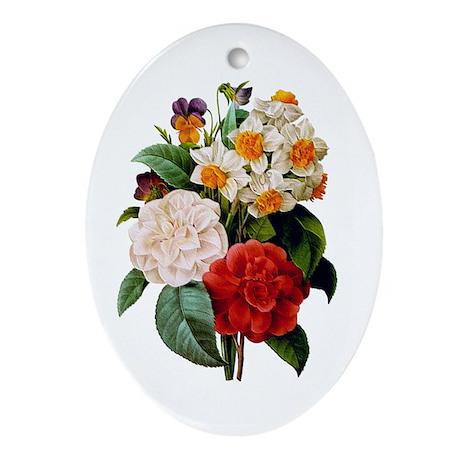 CAMELIA BOUQUET Ornament (Oval)