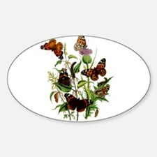 BUTTERFLIES & PURPLE THISTLE Decal