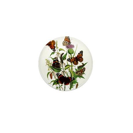 BUTTERFLIES & PURPLE THISTLE Mini Button (100