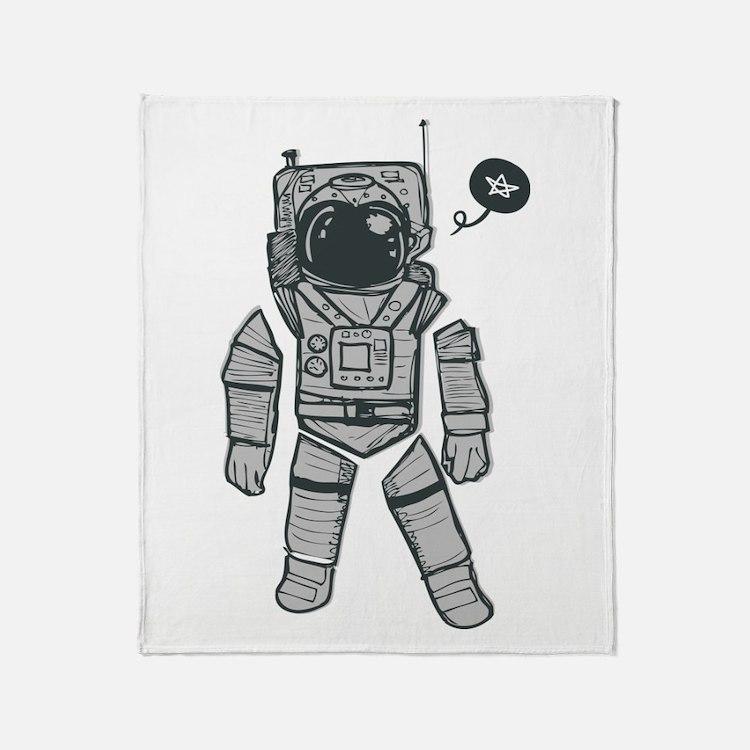 Cute Astronaut Throw Blanket