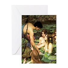 HYLAS & THE NYMPHS Greeting Card