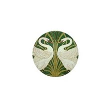 SWANS GREEN Mini Button