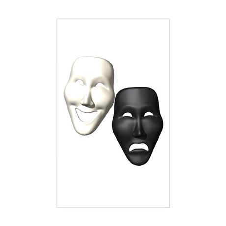 MASKS OF COMEDY & TRAGEDY Sticker (Rectangle)
