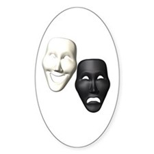 MASKS OF COMEDY & TRAGEDY Decal