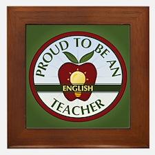English Teacher Framed Tile