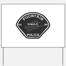 Fountain Police SWAT Yard Sign
