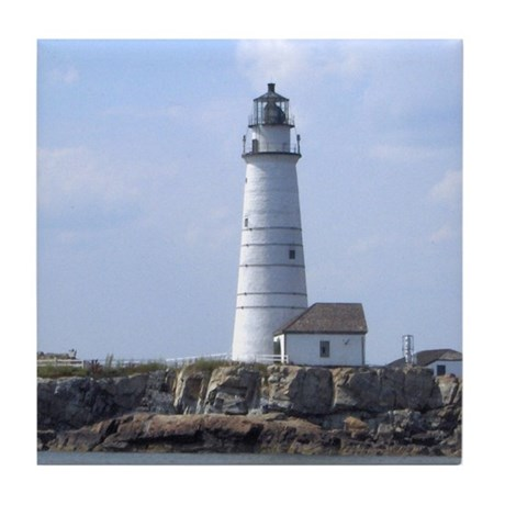 Boston Lighthouse Tile Coaster