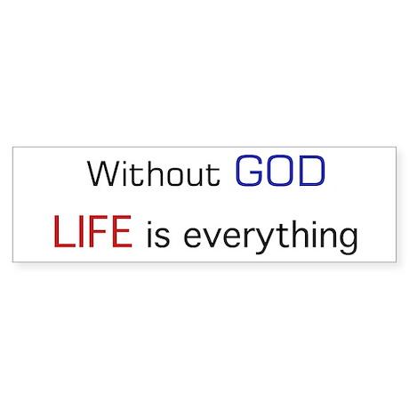 Without God Sticker (Bumper 10 pk)