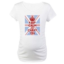 Keep Calm And Carry On (Light Union Jack) Maternit