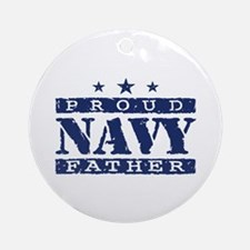 Proud Navy Father Ornament (Round)