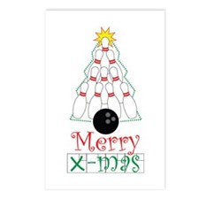 X-mas Bowler Postcards (Package of 8)