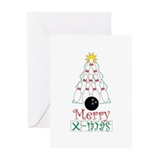 X-mas Bowler Greeting Card