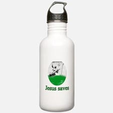 Jesus saves a goal Water Bottle