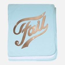 Fame - Fail gold baby blanket