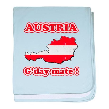 Austria - g'day mate baby blanket