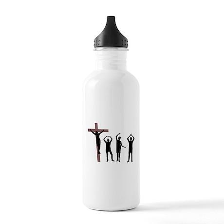 Jesus dancing YMCA Stainless Water Bottle 1.0L