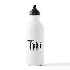 Jesus dancing YMCA Water Bottle